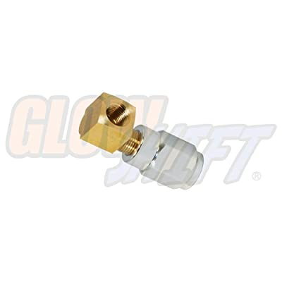 GlowShift -4 an Fuel Rail Fuel Pressure Sensor Thread Adapter for Chevy GM LS1 LS2 LS3 LS6 Engines - Includes 90 Degree Thread Adapter: Automotive [5Bkhe0808418]