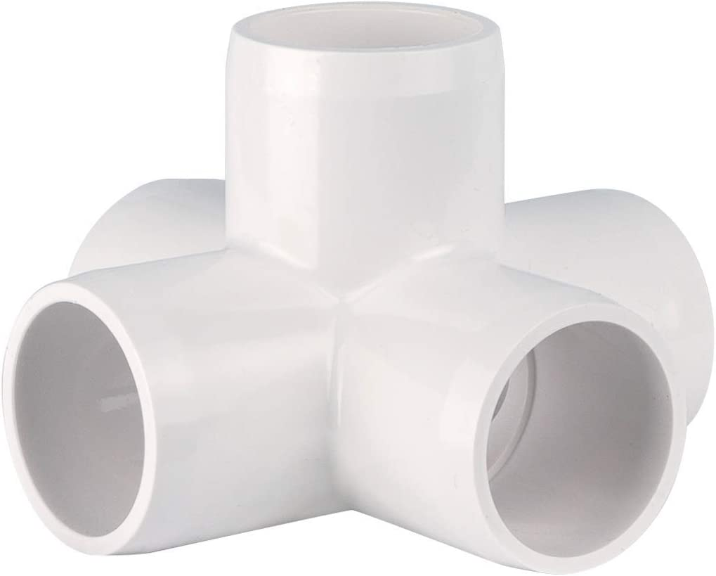 "CIRCOPACK 3/4"" PVC Fitting Connectors Furniture Grade (2 pieces) (5-way cross)"