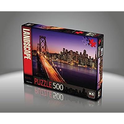 Puzzle 500 Pezzi Brigitte Peyton San Francisco Bridge Al Tramonto
