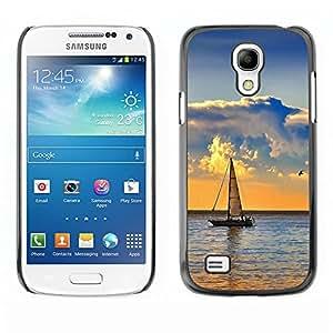 TopCaseStore / la caja del caucho duro de la cubierta de protección de la piel - Nature Sailboat Sea - Samsung Galaxy S4 Mini i9190 MINI VERSION!