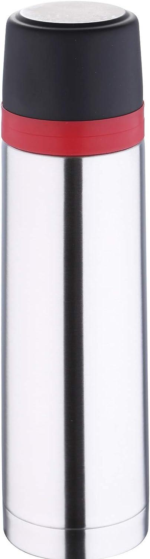 Termo de 1 litro de acero inoxidable con vaso, 1 litro, doble pared (termo, bebidas frías y calientes, botella aislante, 1000 ml)