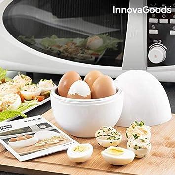 Cocedor de huevos para el microondas para 4 huevos, hervidor ...