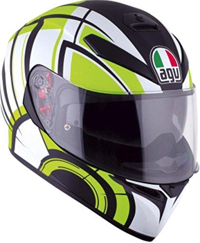 AGV K3 SV Multiavior Full Face Helmet White/Lime/Black MD/SM - DOT-Approved