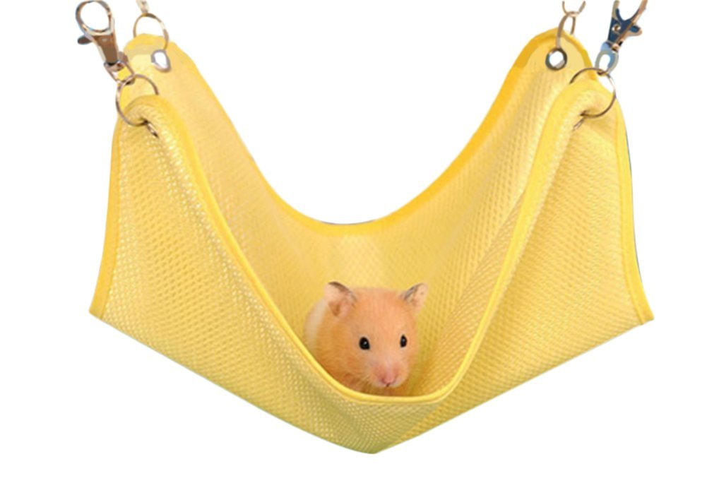 Da.Wa Hamster Swing Bed Hamster Hammock Bed Swing Hanging Bed Breathable Mesh for Small Hamster Animals Toy(S)
