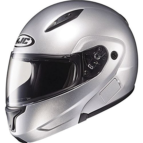 L-MAX II Bluetooth On-Road Motorcycle Helmet - Silver / Large (Metallic Dot Helmets Motorcycle)
