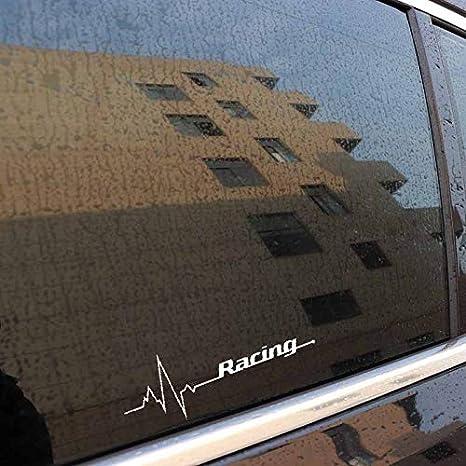 Autocollants Autocollants r/éfl/échissants WILRND-Home Autocollants de Voiture Color : White Cyclisme Battement de Coeur Rayures cr/éatives Autocollants