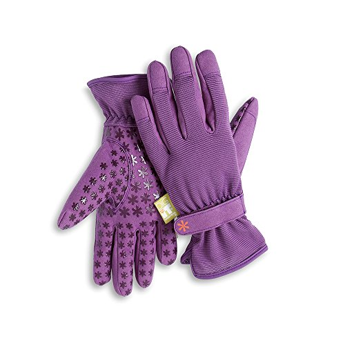 Dig It Handwear Innovative Womens Utility Garden Gloves with Nail Protection, Water Resistance, Improved Dexterity, Durable Reinforced Fingers, Purple, X-Large by Dig It