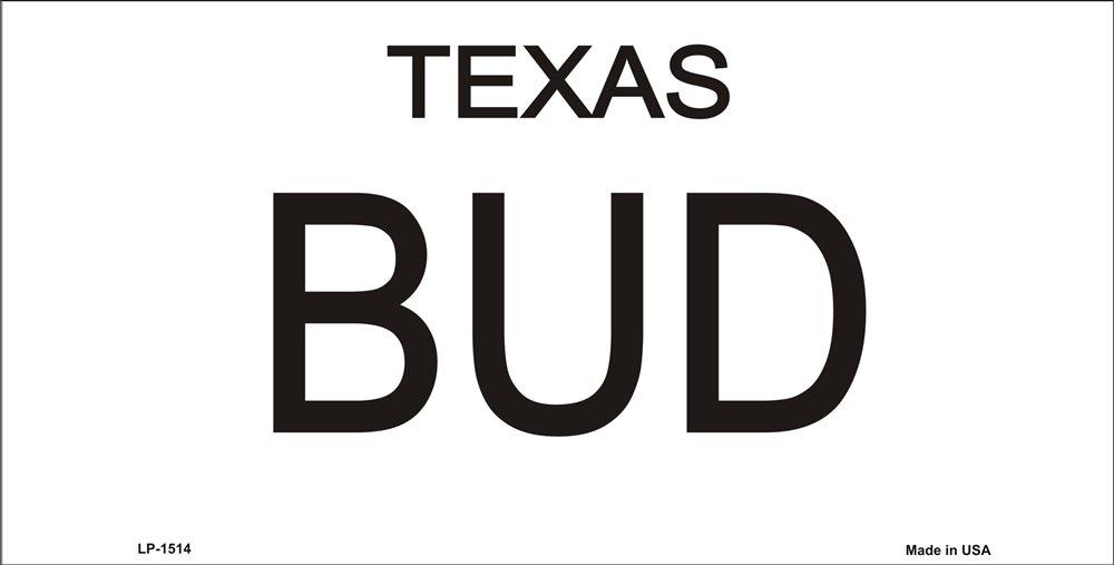 Bud and Sissy Texas License Plates Tags Urban Cowboy