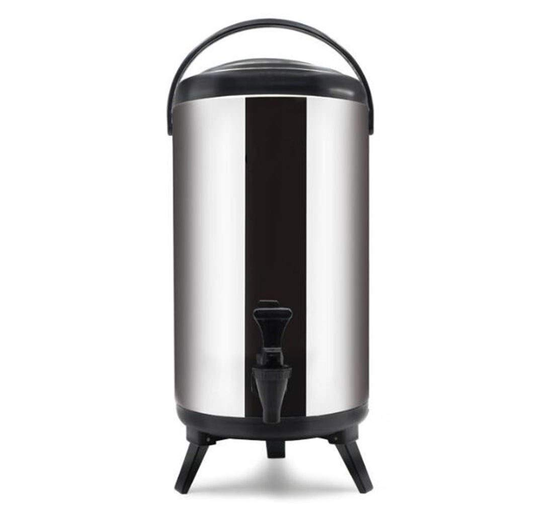 JBHURF Catering Tank Commercial Stainless Steel Insulated Bucket/Water Boiler hot Water Tea Coffee Dispenser for Commercial or Office use (Color : Black, Size : 12L) by JBHURF
