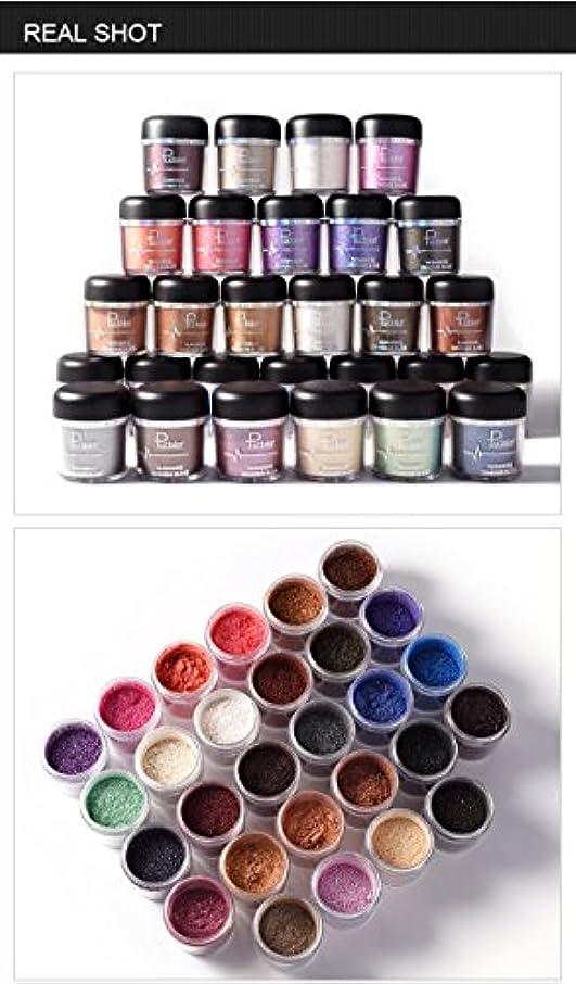 現像暗殺独立した(#16) Glitter Powder Eyeshadow Single Metallic Color Pigments Eye Shadow Easy to Wear Waterproof Shimmer Cosmetics