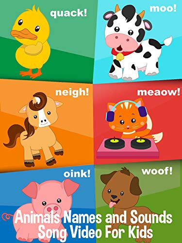 Animals Names and Sounds Song Video For - Learn Dance Kids