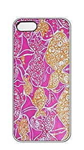 TUTU158600 Hard Skin Case Cover Shell case iphone 5s blue - lilly pulitzer pink petals