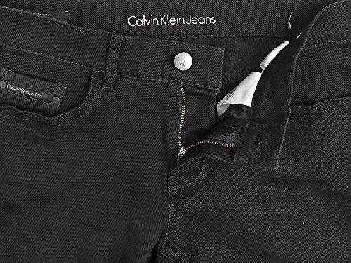 W Klein Skinny Calvin Jeans Vaquero Rise Mid Negro ZwPHqO