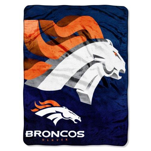 Northwest Denver Broncos Soft Blanket - The Northwest Company Officially Licensed NFL Denver Broncos Bevel Micro Raschel Throw Blanket, 60