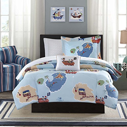 Mizone MZK10-079 Mi Zone Kids Ahoy Matey Complete Bed & Sheet Set Twin Blue,Twin