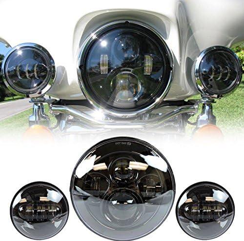Lwd 7 Zoll Harley Daymaker Led Runde Scheinwerfer Mit Passenden Schwarzen 4 5 Zoll Passleuchten Nebelscheinwerfer Für Harley Davidson Motorräder Mit Drahtadapter Bürobedarf Schreibwaren