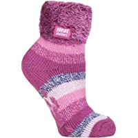 Heat Holders - Womens Fluffy Non Slip Thermal Low Cut Ankle Slipper Bed Socks