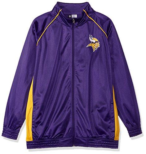 NFL Minnesota Vikings Women POLY TRICOT TRACK JACKET, PURPLE/GOLD, -