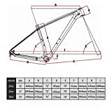 Smileteam Carbon MTB Frame 29er T1000 Carbon Mountain Bike Frame Compatible 142x12mm Thru axle and 135x9mm QR BSA