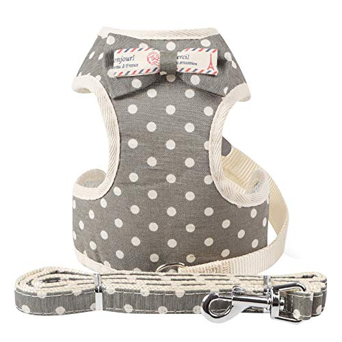 Pet Dog Chest Strap Retro Striped Pattern Neck Bow Tie Chest Belt Comfort Padded Vest Dog Shirt Puppy Pet Small Dog Clothes,Wedding Shirt Formal Tuxedo with Tie,Dog - Bow University Pillow