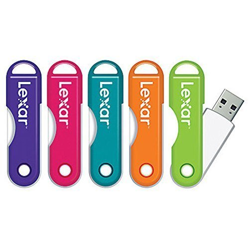 Lexar JumpDrive TwistTurn USB 2.0 Flash Drive 16GB, Assorted Colors Please Note: This is for 1 JumpDrive (No Color Choice) – Easily slips onto a keychain or a bag.