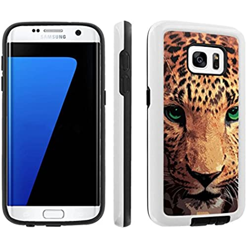 [Galaxy S7] [5.1 Screen] Armor Case [Skinguardz] [White/Black] Shock Absorbent Hybrid - [Cheetah Face] for Samsung Sales