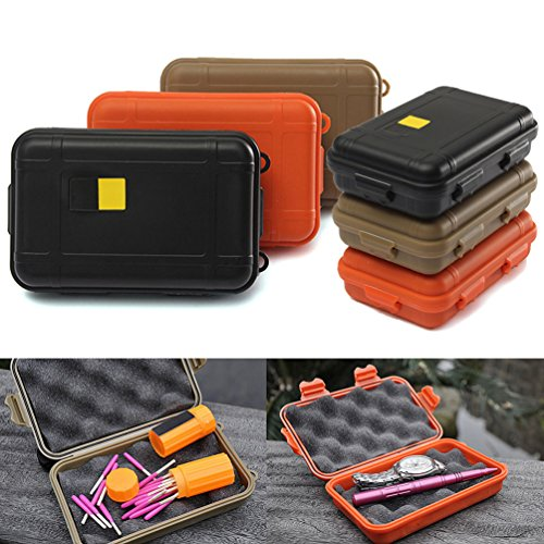 6 Pcs Outdoor Plastic Waterproof Airtight Survival Case Container Storage Carry Box by u-hoMEyy