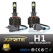 Xprite All-in-One H1 LED Headlight Conversion Kit - 80W 7200LM Cree LED - Replaces Halogen & HID Bulbs (Original Temperature Cover Kit)