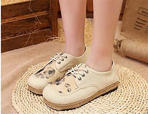 Sed Eu National Wind Da 35 Bandage' Shoes Embroidery Scarpe Donna 's PBPqr