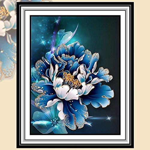 STPKshop Mosaico de diamante 5d diy pintura diamante flor penia fotos 3d diamante bordado adesivo de parede casa decorao da lona flores de presente