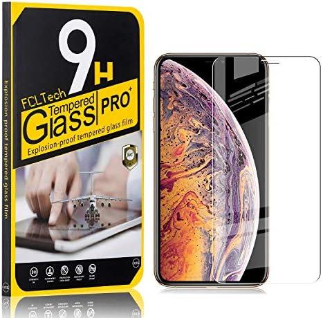FCLTech 1 Stücke Schutzfolie für iPhone 11 Pro Max/iPhone XS Max, Ultra-HD Displayschutzfolie für iPhone 11 Pro Max/iPhone XS Max Blasenfrei, Gegen Kratzer