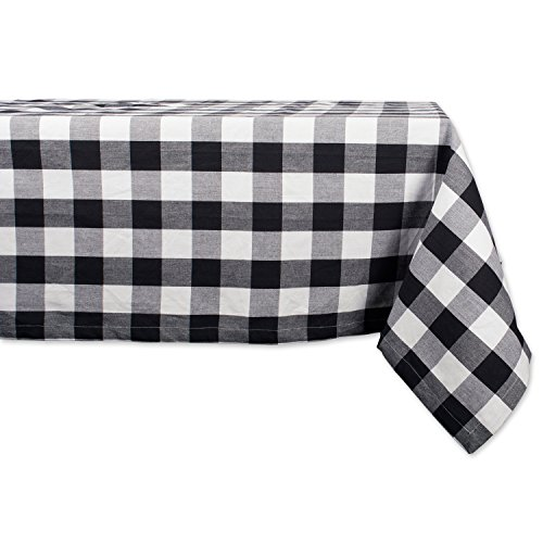 (DII Cotton Buffalo Check Plaid Rectangle Tablecloth for Family Dinners or Gatherings, Indoor or Outdoor Parties, & Everyday Use (60x104