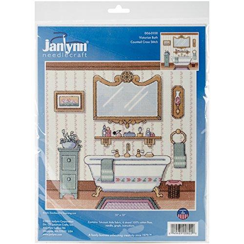 Janlynn 006-0100 Victorian Bath Cross Stitch