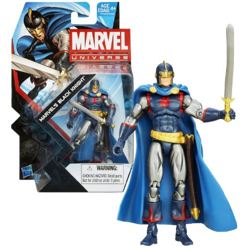 Hasbro Year 2013 Marvel Universe Series 5 Single Pack 4 Inch Tall Action Figure Set #029 - MARVEL'S BLACK KNIGHT (Sir Percy) with Enchanted Blade
