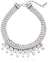 Kenneth Cole New York Crystal Baguette Stone Necklace