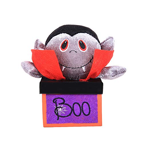lotus.flower Halloween Candy Jar,Reusable Halloween Box,Halloween Tote,Halloween Goody Box,Trick or Treat for Kids Party Favors (Vampire) -