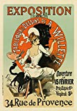 """AP28 Vintage French Art Exhibition A. Willette France Advertising Poster Re-Print - A4 (297 x 210mm) 11.7"""" x 8.3"""""""