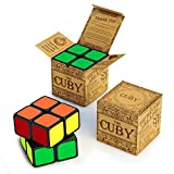 2x2 Cube: Two-Layer, Two-Inch Cube – One Of The Best Brain Teasers - Fast, Smooth 2x2 Speed Cube Perfect For Beginners - Hours of Fun with the Cuby In The Palm Of Your Hand – Satisfaction Guaranteed
