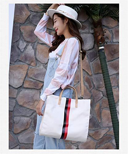 de capacité toile à simple Beige sac femmes sac coréenne nouveau en Bag grand LANDONA sac Messenger sac main grand bandoulière à sacs 0vUxwS