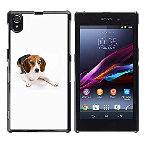VORTEX ACCESSORY Hard Protective Case Skin Cover - beagle foxhound dog pet white - Sony Xperia Z1 L39 C6902 C6903 C6906 C6916 C6943