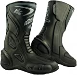 RKsports LV14 Motorcycle Motorbike Leather Sports Winter Protective Boots Red Blue Black