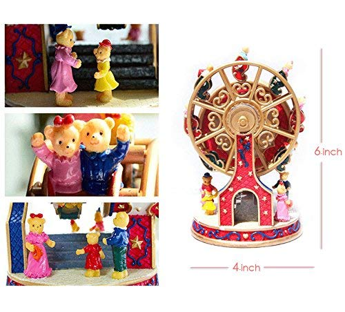 ASNOMY Personalized Rotating Ferris Wheel Music Box for Girls or Boys' Birthday, Music Box Melody Canon(Canon) by ASNOMY (Image #6)