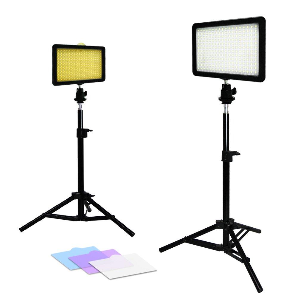 Julius Studio 2x New Premium 216 PCS LED Light for Digital Camera/Camcorder Video Table Top Photo Studio Lighting Stand Kit, JSAG156
