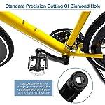 YHG-Braccio-per-Pedivella-Bici-Braccio-per-Pedivella-Bici-170mm-Ricambio-per-Pedivella-a-Catena-Singola-Sinistra-in-Lega-di-Alluminio-per-Bici-da-Strada-Mountain-Bike-Bicicletta