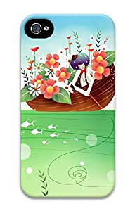 iPhone 4 4s Cases & Covers - Children Art Illustration PC Custom Soft Case Cover Protector for iPhone 4 4s