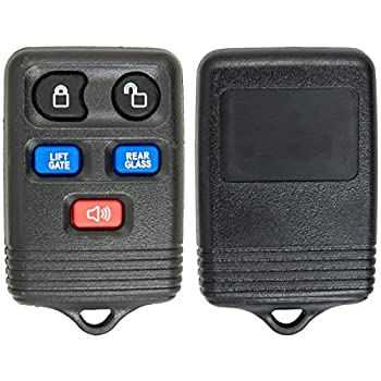Keyless2Go Key Fob Shell Case for Select Lincoln Vehicles with FCC CWTWB1U551 - Shell Only