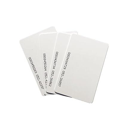 125 KHz RFID tarjetas de proximidad EM4100/TK4100 blanco PVC ...