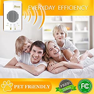 Pest Control Ultrasonic Pest Repeller Electronic Plug in Best Repellent Get Rid Of - Rodents Squirrels Mice Rats Insects - Roaches, Spiders, Fleas, Bed Bugs, Flies, Ants, Mosquito, Fruit Fly, Bee, Bat from eHouse