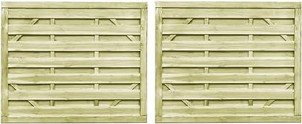 vidaXL 2x Legno Pino FSC Cancello Steccato 300x125cm Verde Cancelletto Recinto