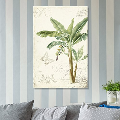 Vintage Stylet Tropical Plant with Giant Leaves